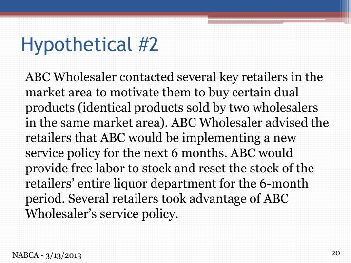 ABC Wholesaler contacted several key retailers in the