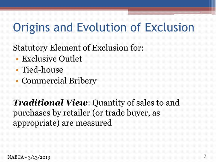 Statutory Element of Exclusion for:
