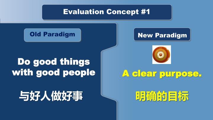 Evaluation Concept #1