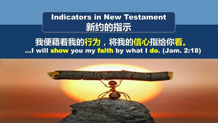 Indicators in New Testament
