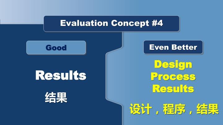 Evaluation Concept #4