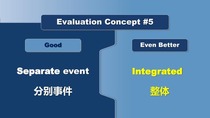 Evaluation Concept #5