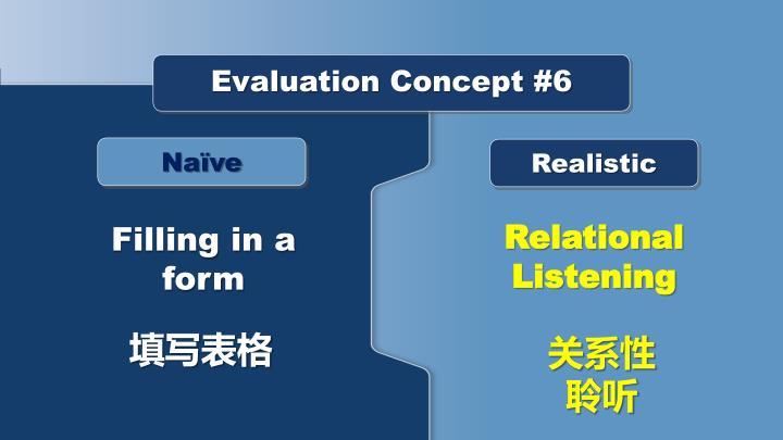 Evaluation Concept #6