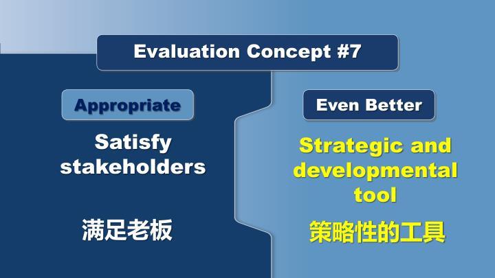 Evaluation Concept #7