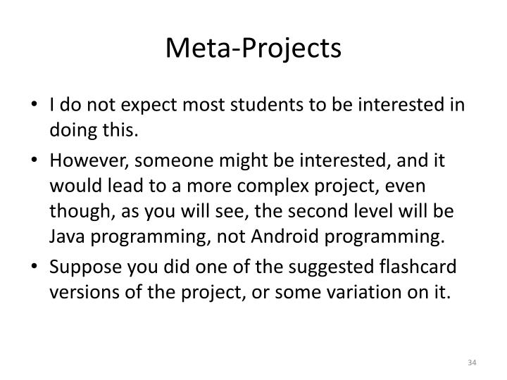 Meta-Projects