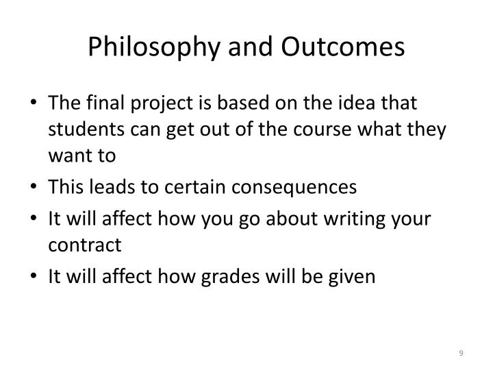 Philosophy and Outcomes