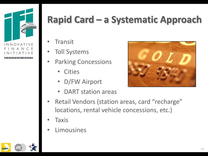 Rapid Card – a Systematic Approach