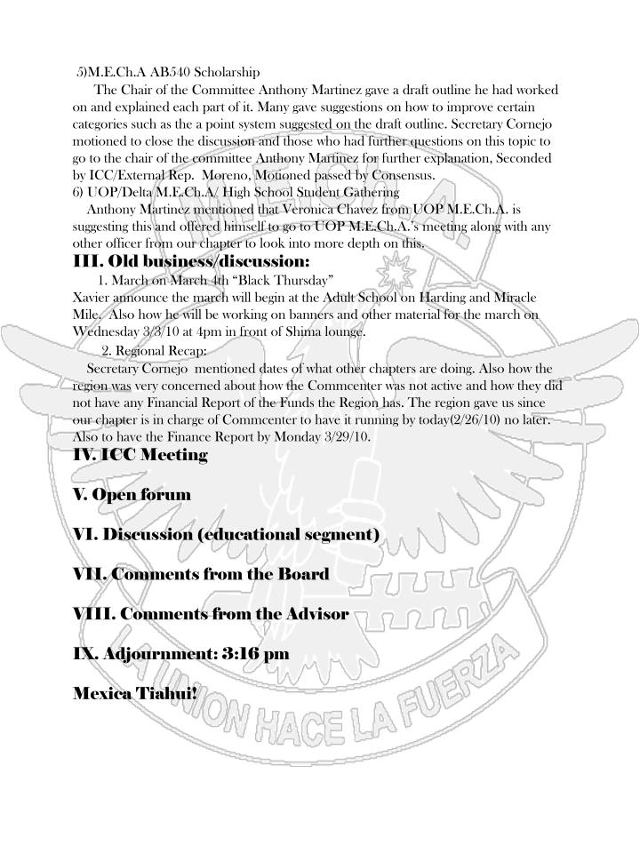 5)M.E.Ch.A AB540 Scholarship