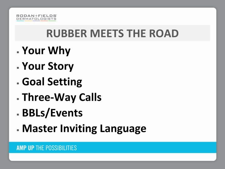 Rubber Meets the road
