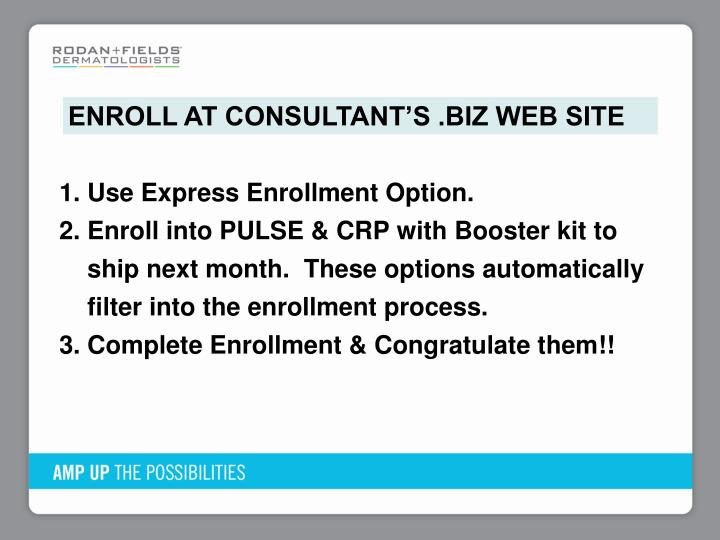 ENROLL AT CONSULTANT'S .BIZ WEB SITE