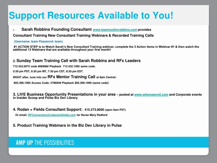 Support Resources Available to You!