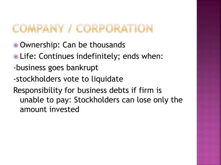 Company / Corporation