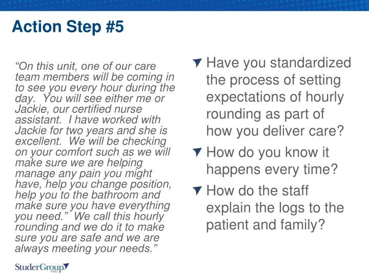 Action Step #5