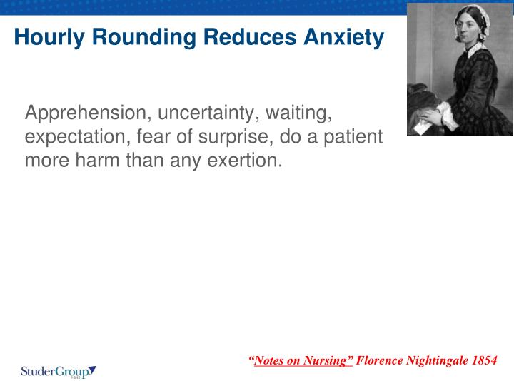 Hourly Rounding Reduces Anxiety