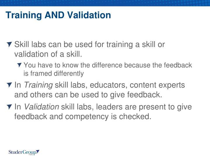 Training AND Validation