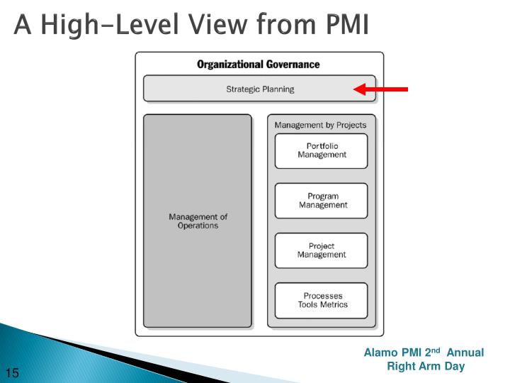 A High-Level View from PMI
