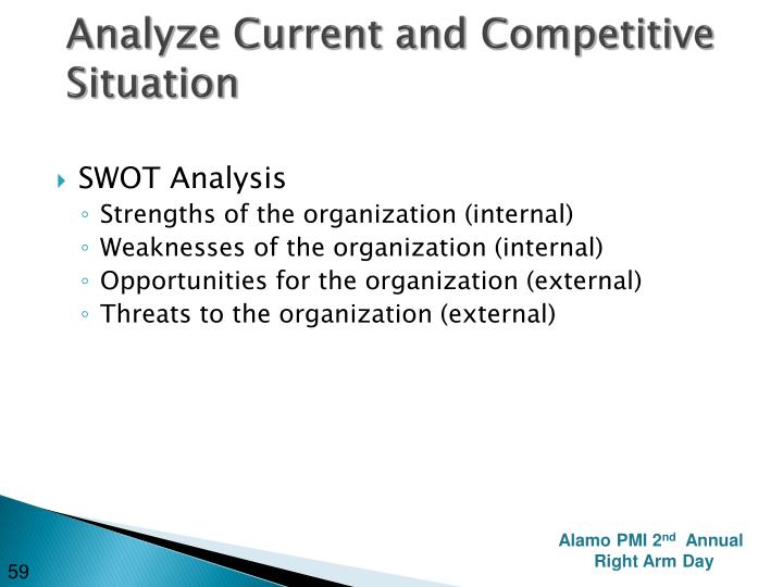 Analyze Current and Competitive Situation