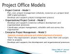 project office models