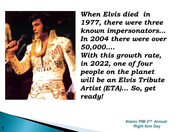 When Elvis died  in 1977, there were three known impersonators…