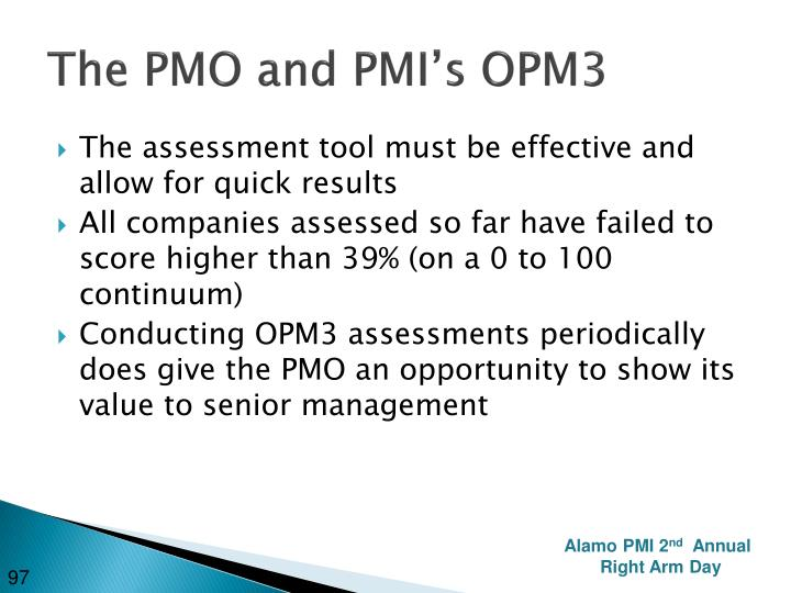 The PMO and PMI's OPM3