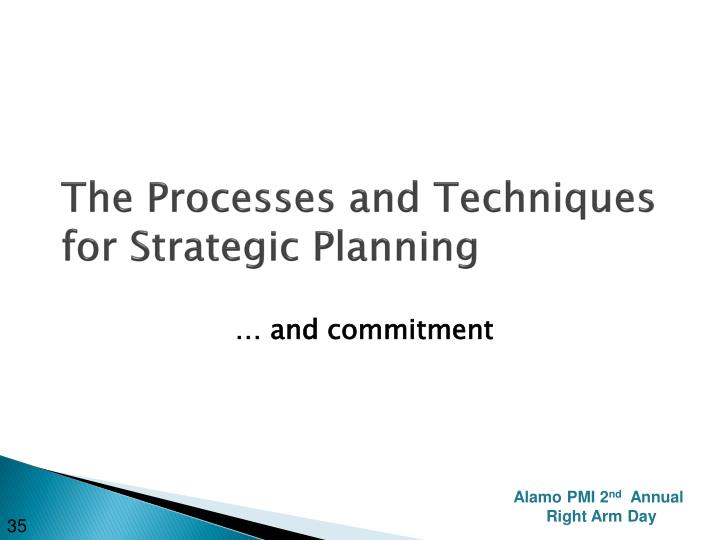 The Processes and Techniques for Strategic Planning