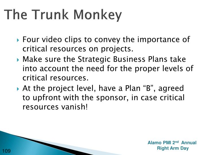 The Trunk Monkey