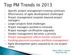 top pm trends in 2013