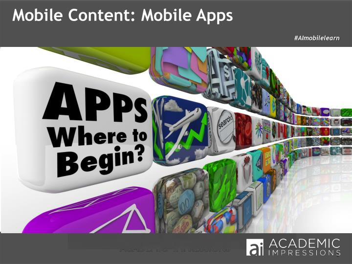 Mobile Content: Mobile Apps