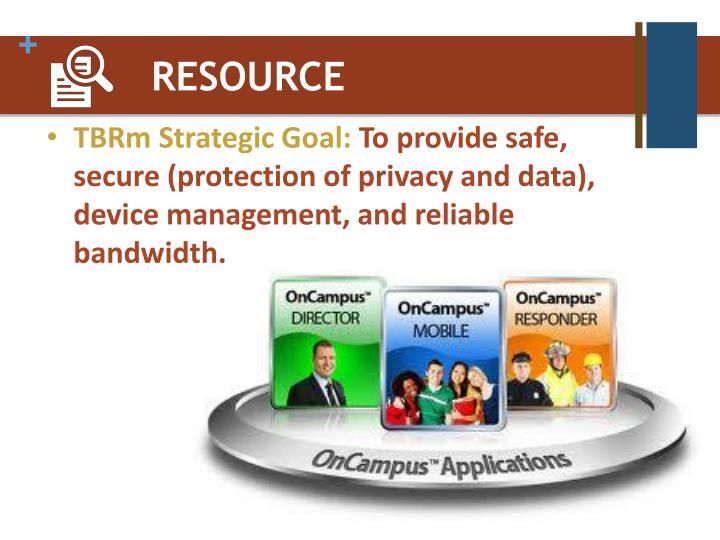 TBRm Strategic Goal:
