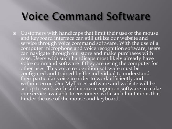Voice Command Software