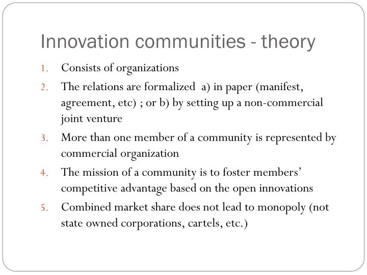 Innovation communities - theory