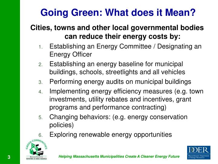Going Green: What does it Mean?