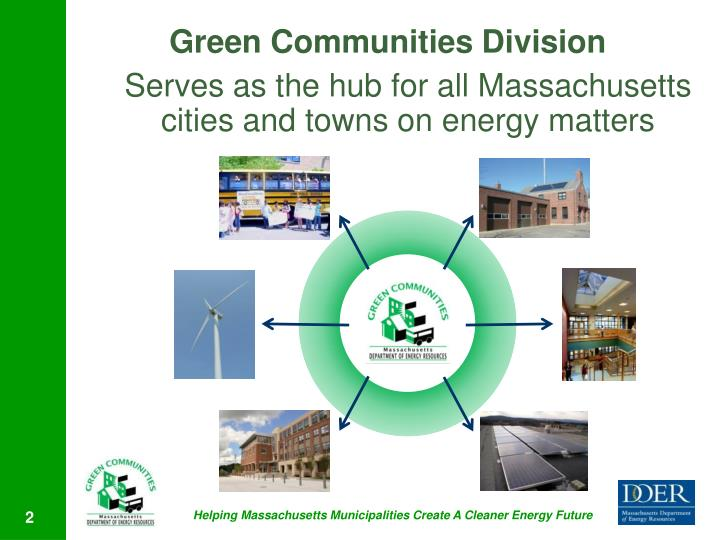 Serves as the hub for all Massachusetts cities and towns on energy matters