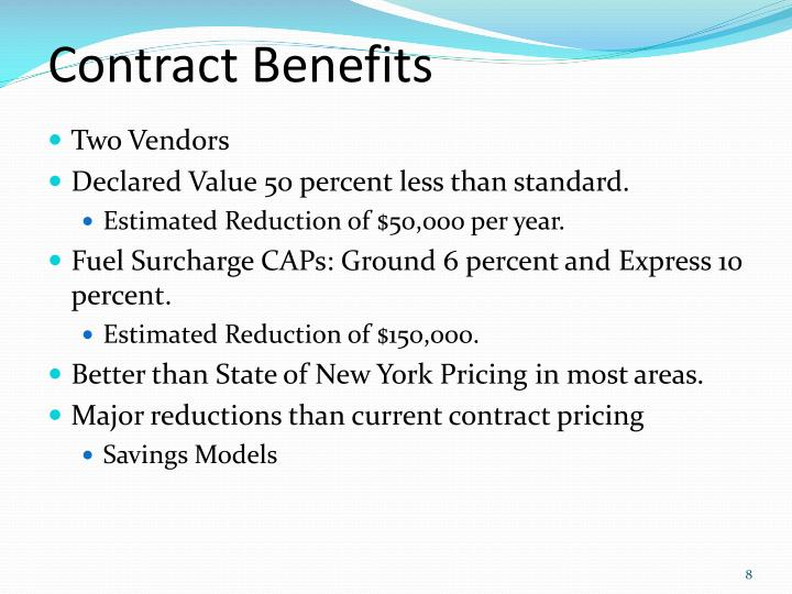 Contract Benefits