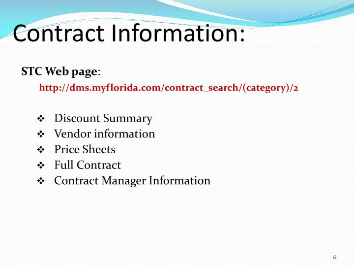 Contract Information:
