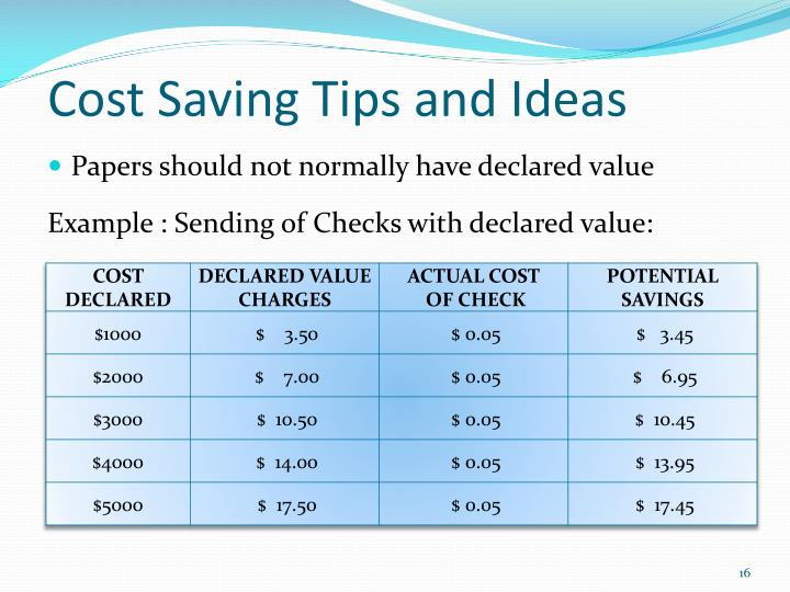 Cost Saving Tips and Ideas