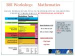 bsi workshop mathematics18