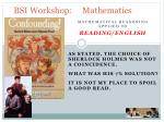 bsi workshop mathematics3