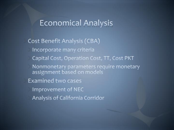 Economical Analysis