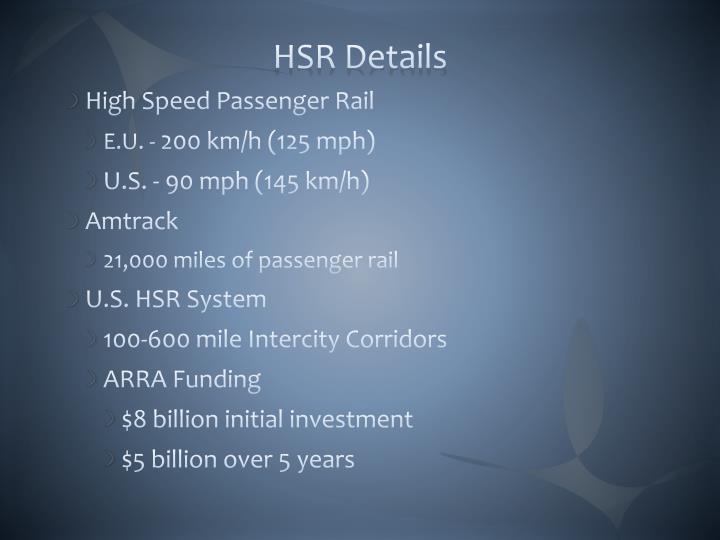HSR Details