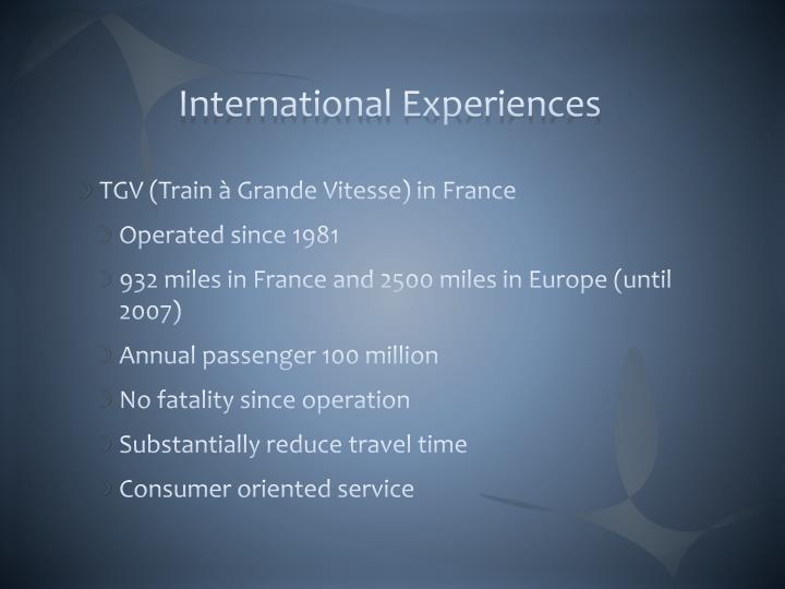 International Experiences