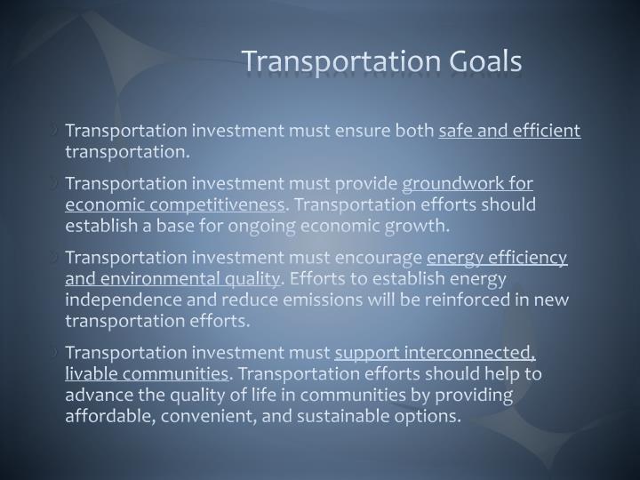 Transportation Goals