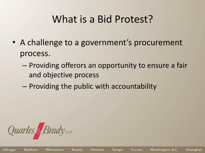 What is a Bid Protest?