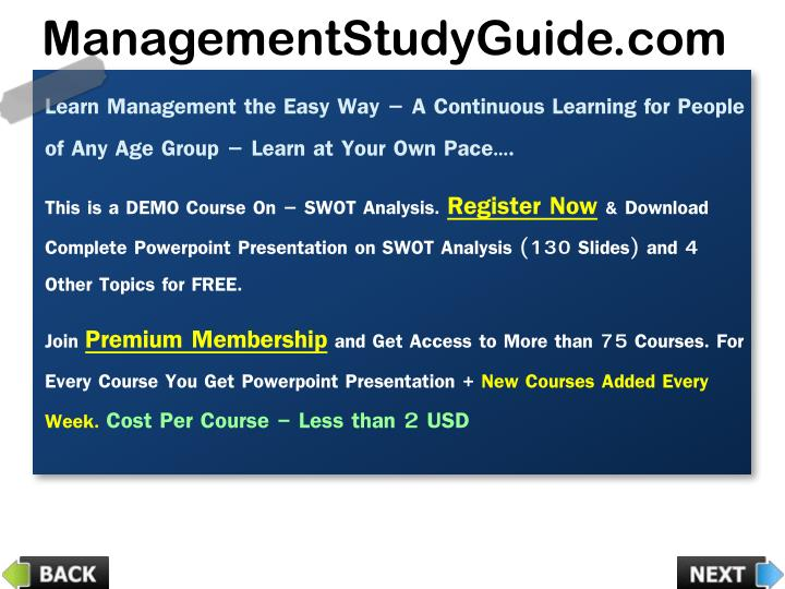 Learn Management the Easy Way – A Continuous Learning for People of Any Age Group – Learn at Your Own Pace….