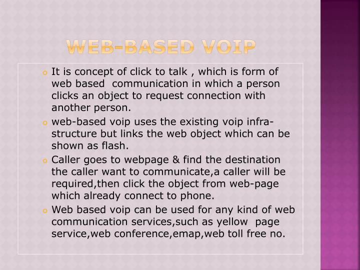 WEB-BASED VOIP