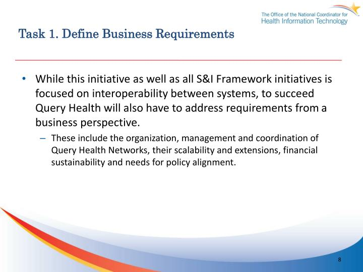 Task 1. Define Business Requirements
