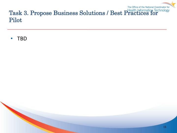 Task 3. Propose Business Solutions