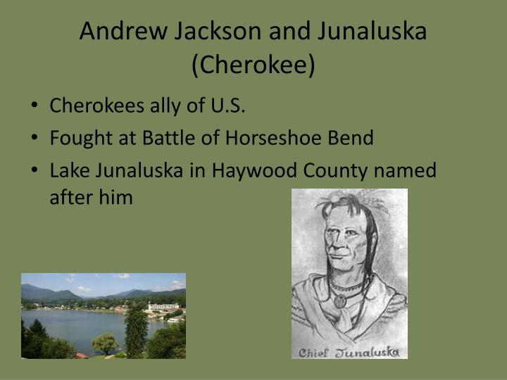 Andrew Jackson and Junaluska (Cherokee)