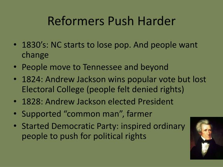 Reformers Push Harder