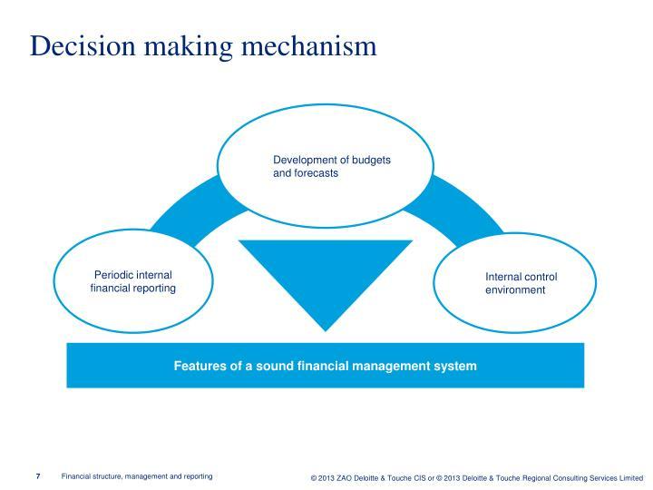 Decision making mechanism